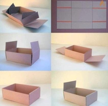 Простые коробки из картона своими руками