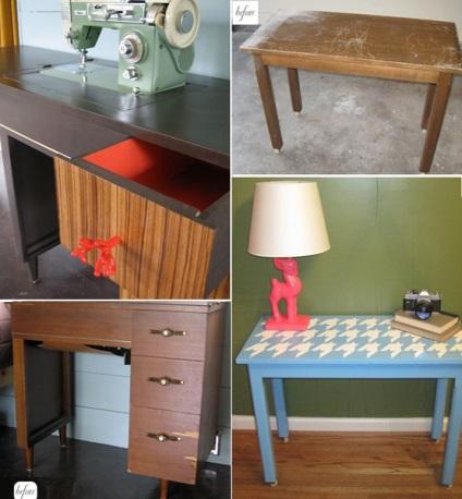 Как реставрировать письменный старый стол своими руками 462