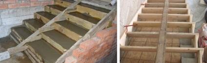 beton lépcső a kezét, és a technológia lépésről lépésre diagram az ...