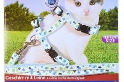 Шлейка для кішок, купити поводок для кішки за доступною ціною - інтернет магазин 4lapy