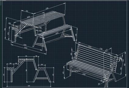 Скамейка своими руками чертежи и схемы сборки 22