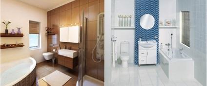 design fürdőszoba különböző színek, felületek, stílusok, 34 kép ...