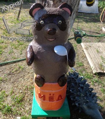 Сделать медведя своими руками из бутылки 26