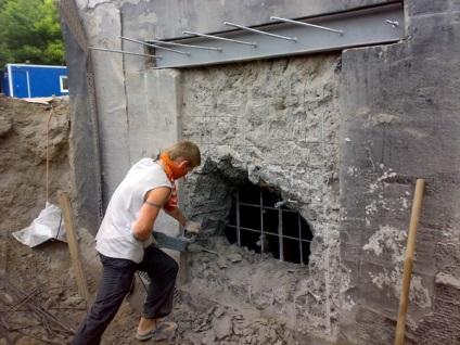 Teherhordó fal bontása