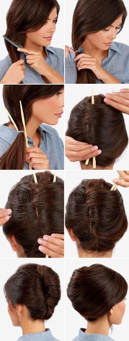 Деловые прически на длинные волосы своими руками фото пошагово 15