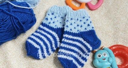 Дитячі шкарпетки спицями з малюнком (візерунком) 41989437fbb6c