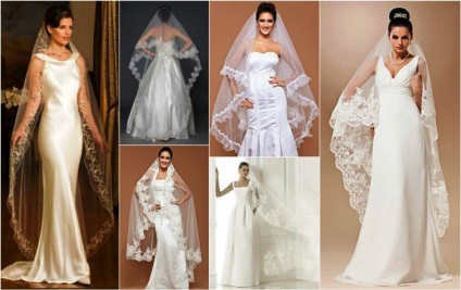 A hosszú fátyol menyasszony -, amelyek néhány ruha és hajviselet egyesítjük, fotók