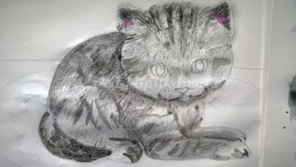 Hogyan kell felhívni a cica fokozatosan akvarell gyermekek 8 éves