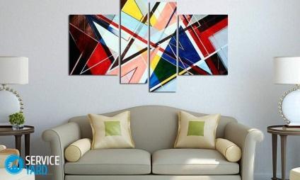 Hogyan akasztani egy képet a falra fúrás nélkül a falra, serviceyard-kényelmes otthon kéznél