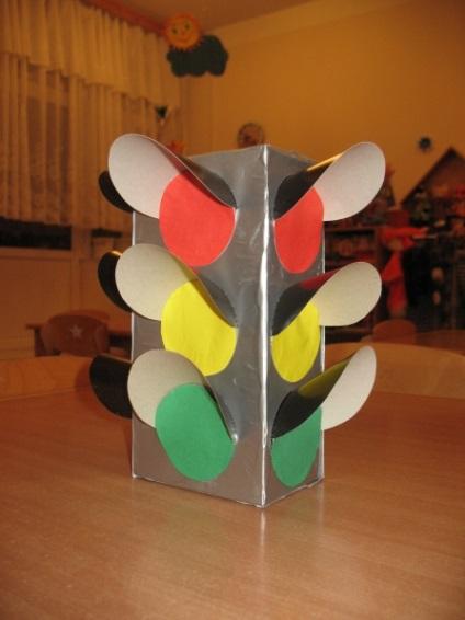 Поделка для детей светофор своими руками 79