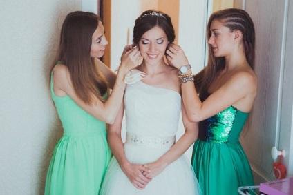 Smink esküvőre, mint a koszorúslány tenni bármilyen színben, képek és videó