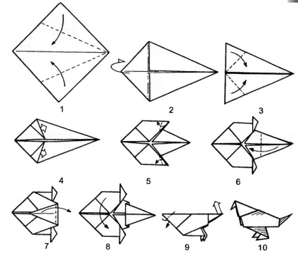 Оригами птички своими руками 9