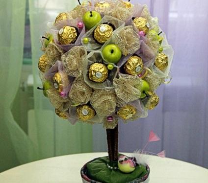 Дерево из конфет своими руками пошаговые фото 786