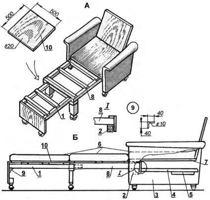 Кровать выдвижная своими руками чертежи и схемы 62