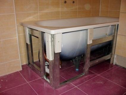 Каркас для ванной своими руками 33