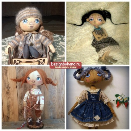 Doll saját kezűleg a rongy-lépésre mesterkurzusokat fotókkal