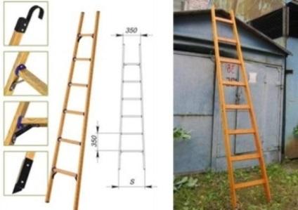 Как сделать приставную лестницу из дерева