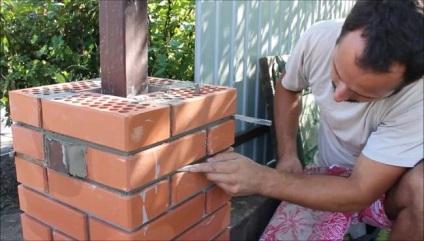 Как выложить колонну из кирпича своими руками 59