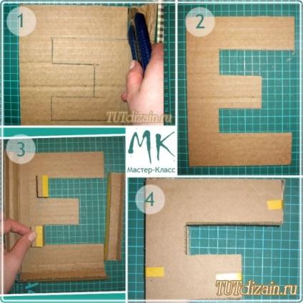 Как изготовить объемные буквы своими руками 15