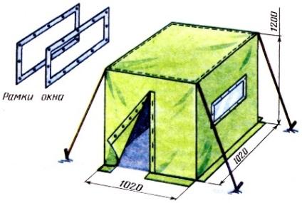 Чертежи палаток своими руками 44