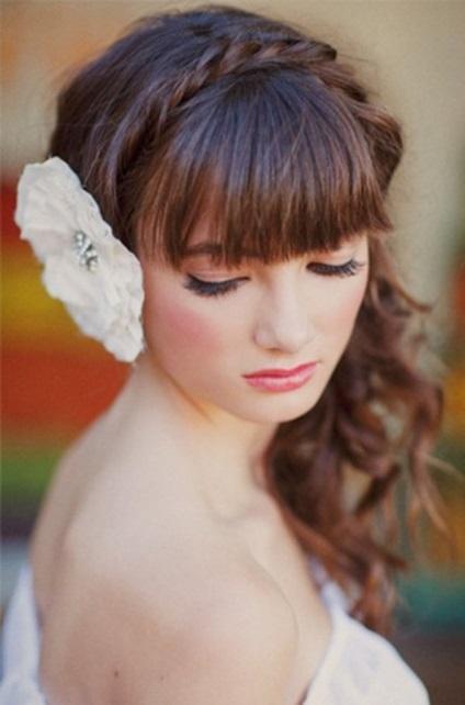 Esküvői frizurák különböző arcformákhoz
