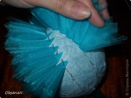 Как делать топиарий из органзы своими руками