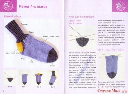Вязание пятки носка спицами описание фото 60