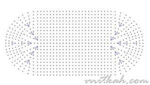 Номер крючка для вязания тапочек 77
