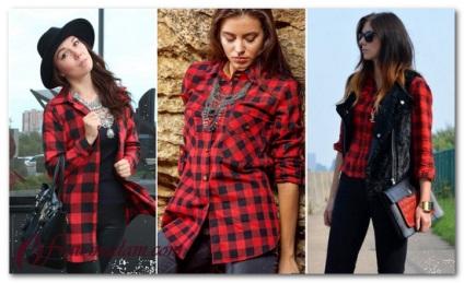 2bb406fc83 Abból, amit viselni női piros kockás ing fotó képeket