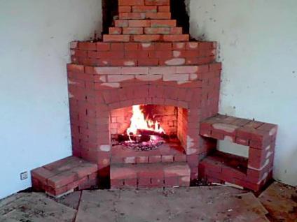 Как самому сделать камин с кирпича 74