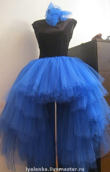 Как сшить юбку хризантему из фатина со шлейфом 27