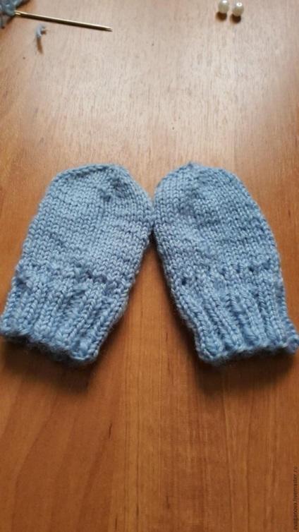 Вязание царапки для новорожденных 273