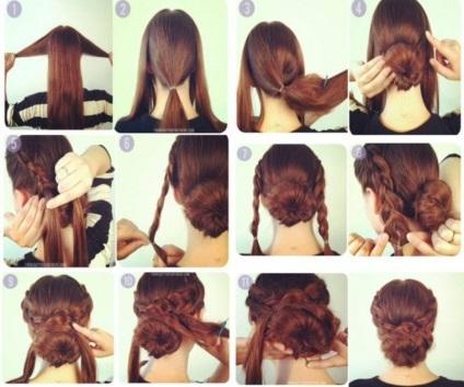 Красивые причёски на длинные волосы в школу быстро и легко фото