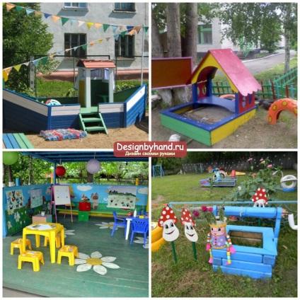 Идеи для детского сада для площадки своими руками 58