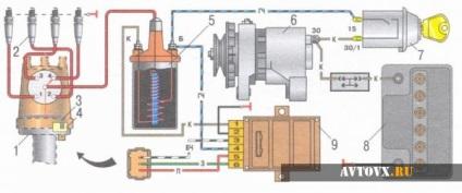 Принципиальная схема зажигания 2107