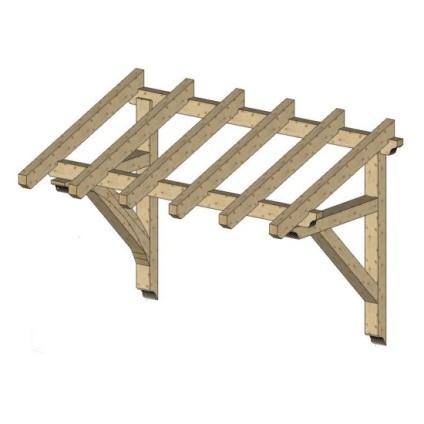 Как сделать деревянный навес над крыльцом своими руками 398