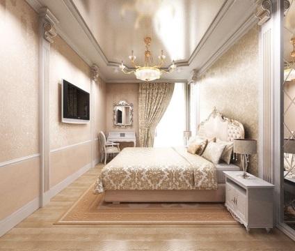 Спальня дизайн интерьера в светлых
