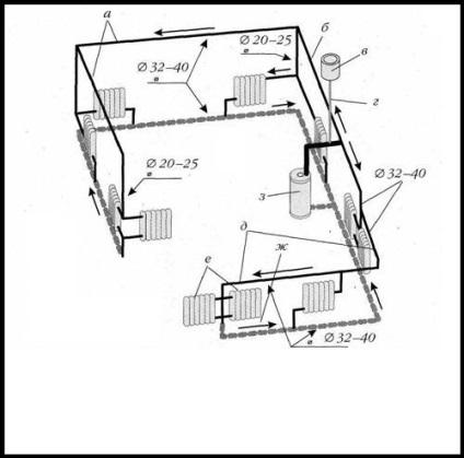Схема отопление частного одноэтажного дома своими руками 41
