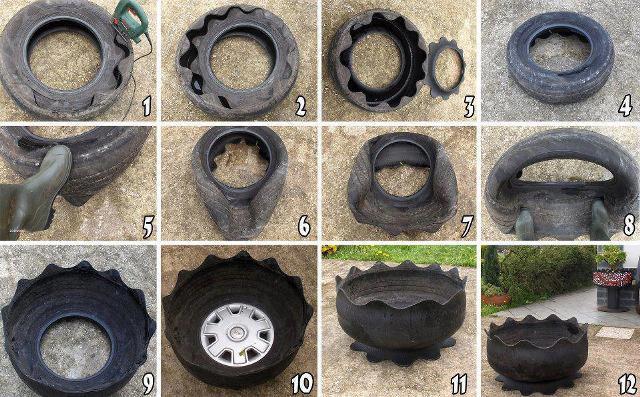 Что можно сделать из автомобильных колес своими руками 100