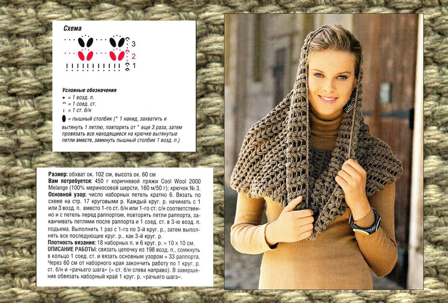 Схемы вязания с фото шарф хомут
