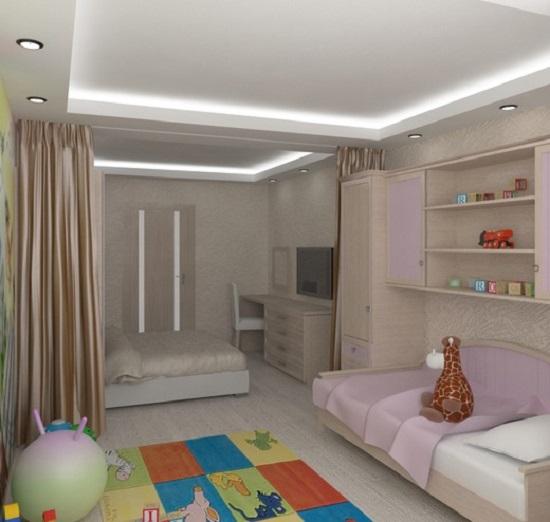 Как сделать ремонт в однокомнатной квартире с детской