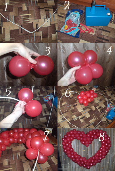 Как делать своими руками украшения из шаров