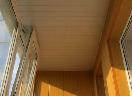 Потолок из пластика на балконе своими руками 31
