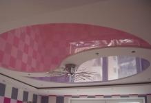 Комбіновані натяжні стелі фото монтаж підвісних стель разом, красива комбінація