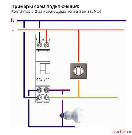 Контакторы и схемы подключения