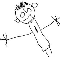 A technika - rajz egy férfi