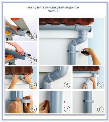 Установка водосточной системы из пластика своими руками пошаговое фото 1