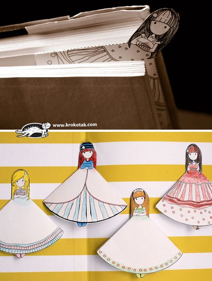 Саморобні іграшки паперові ляльки з нарядами b31263b45ace4