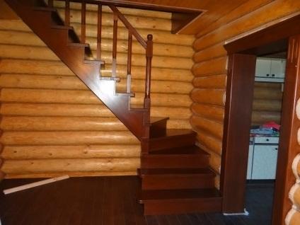 Деревянные лестницы на второй этаж своими руками с поворотом на 90 цены 31