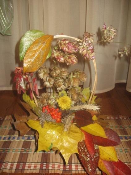 Поделки из цветов для детского сада на тему осень 85